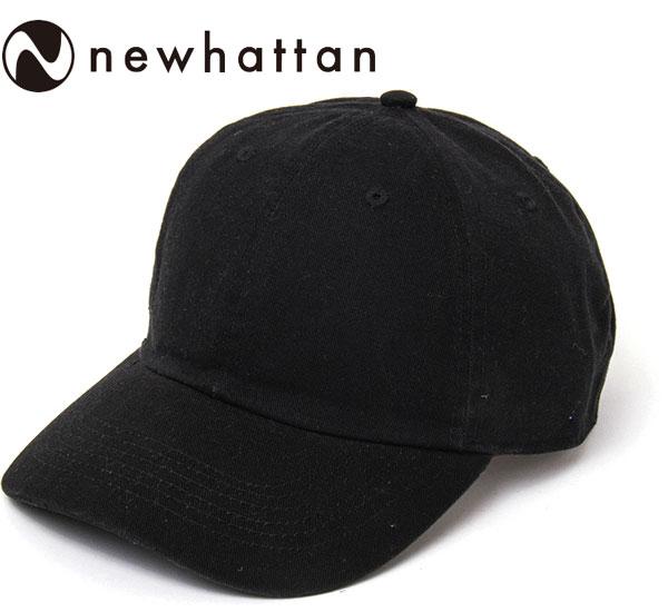 ウォッシュ ベースボールキャップ(NEWHATTAN)(1400) BLACKブラック