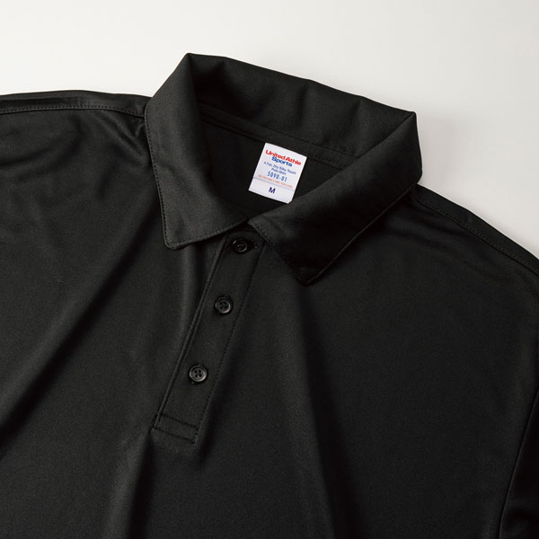 4.7オンス ドライシルキータッチポロシャツ(5090-01)襟