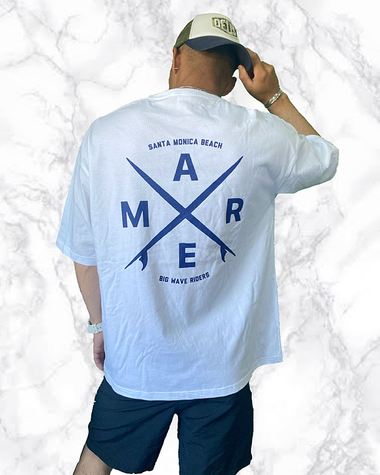 ビッグシルエットTシャツ シルクスクリーンプリント